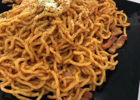 昔ながらのナポリタンスパゲッティ