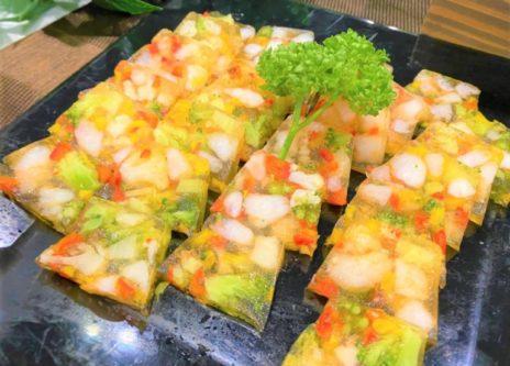 海老と野菜のサルピコンのテリーヌ